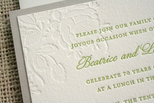 70th wedding anniversary invitations2 500x333 70th Wedding Anniversary Invitations