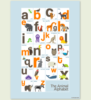 Alphabet Kids Room Print 300x330 English Muffin Shop   Design for Kids