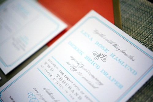 California Letterpress Wedding Invitations2 500x333 Lena and Dereks California Wedding Invitations