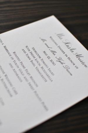 Classic Black White Wedding Calligraphy Menu 300x451 Classic Black + White Calligraphy