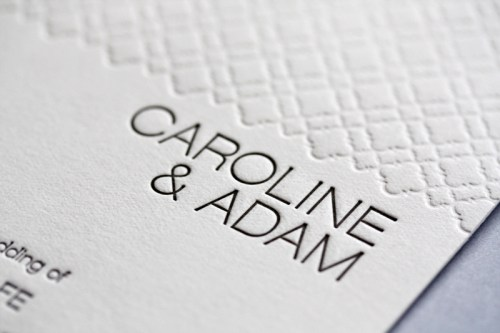 page stationery modern wedding invitation caroline detail 500x333 Wedding Invitations   Page Stationery