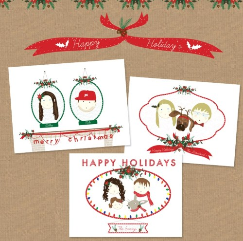 two brunettes christmas group 500x495 New Giveaway! Personalized Holiday Cards from Two Brunettes!