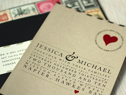 Love Letter Wedding Invitation 500x375 Love Letter Inspired Wedding Invitations