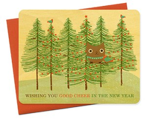 Night Owl Paper Goods Holiday Card 300x242 2010 Holiday Card Round Up, Part 1!