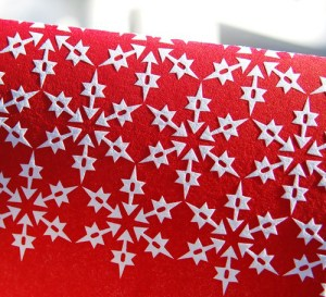 Wild Ink Press Snowflake Holiday Card Red 300x273 2010 Holiday Card Round Up, Part 1!