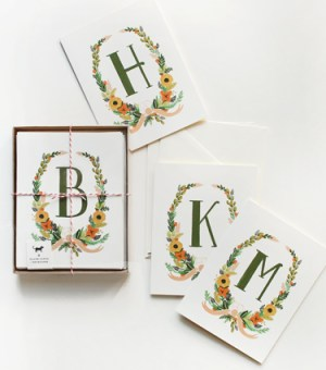 Rifle Paper Co Handpainted Monogram Note Cards 300x340 Monogram Note Cards