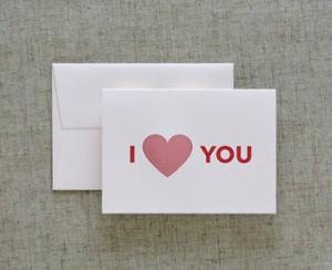 Dee La La i love you valentines day card 300x244 Seasonal Stationery: Valentines Day Cards, Part 2