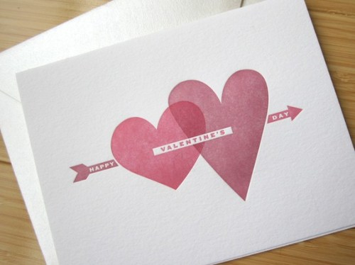 Studio Slomo Heart Happy Valentines Day Card 500x374 Seasonal Stationery: Valentines Day Cards, Part 2