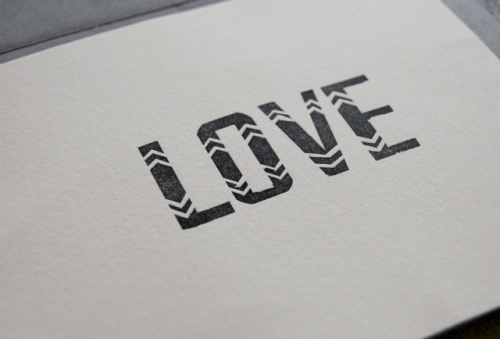 in haus press letterpress love card 500x339 Simple + Sweet Valentines
