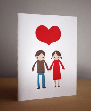 Fugu Fugu Press Valentine 300x372 Seasonal Stationery: Last Minute Valentines Day Cards