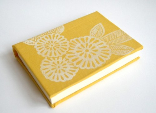 Hand printed linoleum cut journal 500x363 Hand Block Printed Note Cards