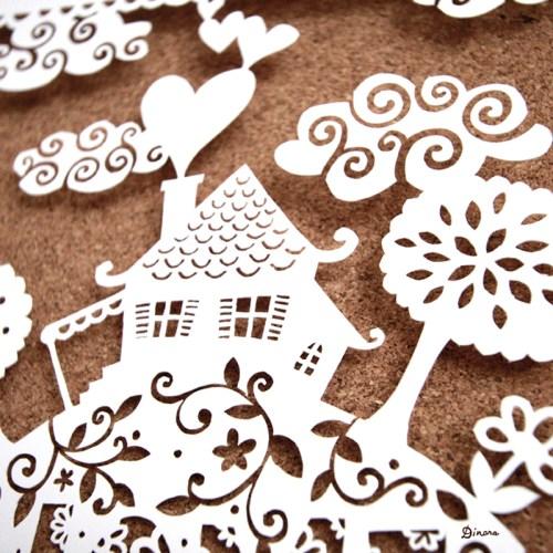 Home Sweet Home Paper Cut Dinara Mirtalipova Detail 500x500 Home Sweet Home Papercut Artwork