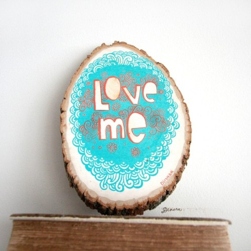 Love Me Acrylic Painting On Wood Dinara Mirtalipova 500x500 Home Sweet Home Papercut Artwork