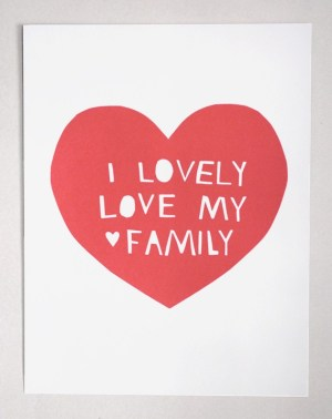 Lovely Love My Family 300x378 Lovely Love Art Print