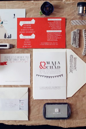 Red Silver DIY Wedding Invitations Tools 300x449 Maia + Chads Red and Silver Wedding Invitations