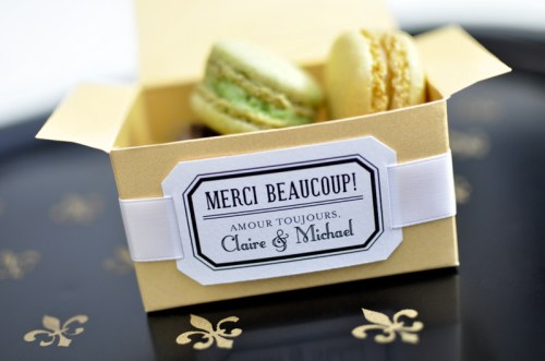 Parisian Wedding Invitation Inspiration Macarons 500x331 Parisian Wedding Invitation Inspiration