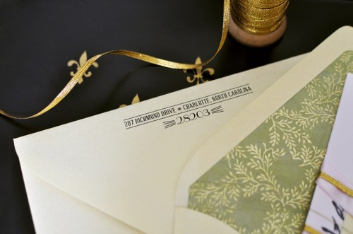 Parisian Wedding Invitation Inspiration Return Address 500x331 Parisian Wedding Invitation Inspiration