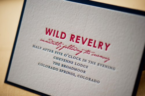 Colorado Rocky Mountains Blue Yellow Wedding Invitations Reception 500x332 Rebecca + Nicks Rocky Mountain Colorado Wedding Invitations