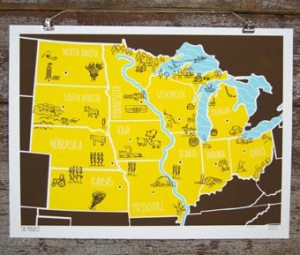 Brainstorm American Atlas Poster Midwest 300x255 {today I love...}