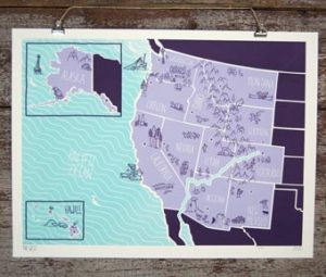 Brainstorm American Atlas Poster West 300x255 {today I love...}