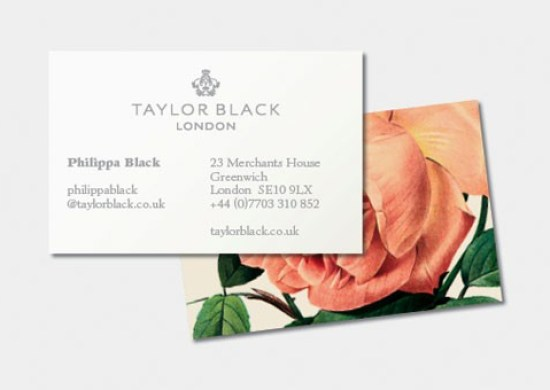 Floral Backing Business Cards Business Card Ideas and Inspiration #9