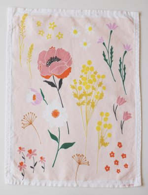 Floral Dishtowel Lisa Rupp 300x387 {today I love...}