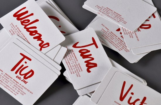 Hand Lettering Business Card Business Card Ideas and Inspiration #8
