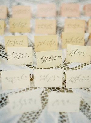 Ombre Seating Cards 300x408 Wedding Details: Escort Cards and Place Cards, Part 2