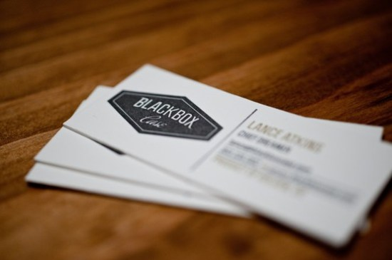 Skinny Letterpress Business Cards 550x365 Business Card Ideas and Inspiration #8