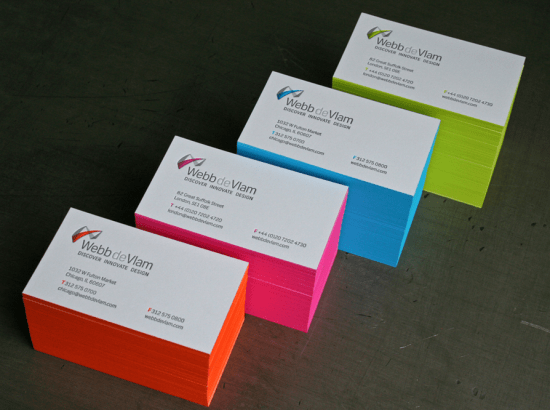Studio on Fire Neon Edge Painting Business Card 550x410 Business Card Ideas and Inspiration #8
