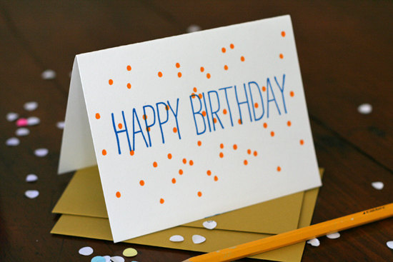 Tabletop Made Confetti Happy Birthday Card Bright & Colorful Cards from Tabletop Made