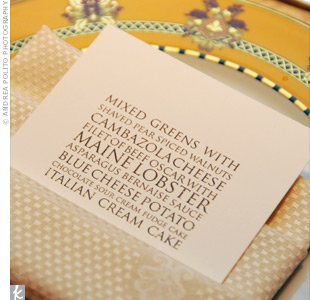 modern type wedding menu Wedding Details: Creative Menu Ideas