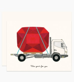 Dear Hancock Giant Ruby on Truck 300x333 Modern Illustrated Stationery from Dear Hancock