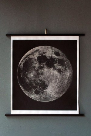Moon Chart1 300x447 Paper Artwork   Black and White Astronomy Prints