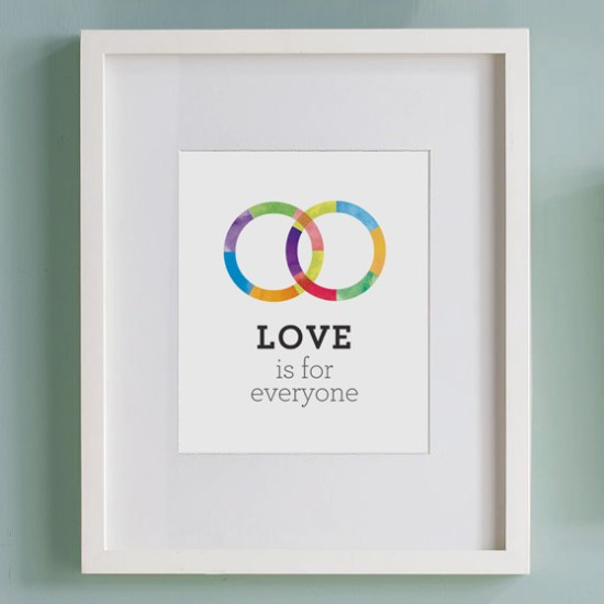 marriage equality artwork wedding bands 550x550 Marriage Equality Artwork from Fine Day Press