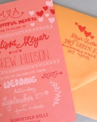 Custom Non-Traditional Hand-Lettered Wedding Invitations by Bird and Banner