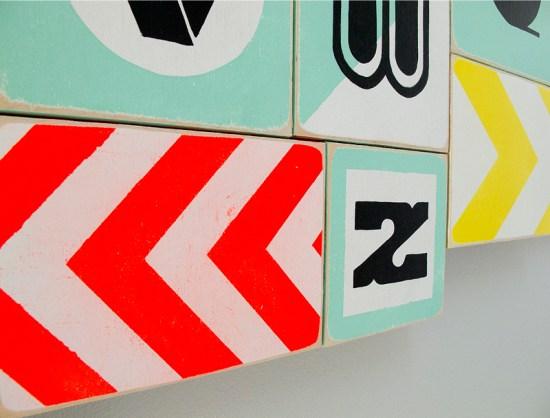 Modern Nursery Alphabet Blocks6 550x418 Jasons Modern Nursery Alphabet Blocks