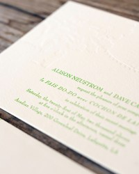 Custom Non-Traditional Letterpress Wedding Invitations by Blackbird Letterpress