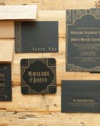 Art Deco Blackbird Wedding Collection