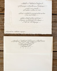 Custom Classic Wedding Invitations by Blackbird Letterpress