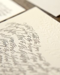 Custom Classic Letterpress Wedding Invitations by Blackbird Letterpress