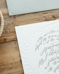 Custom Wedding Invitation Detail by Blackbird Letterpress