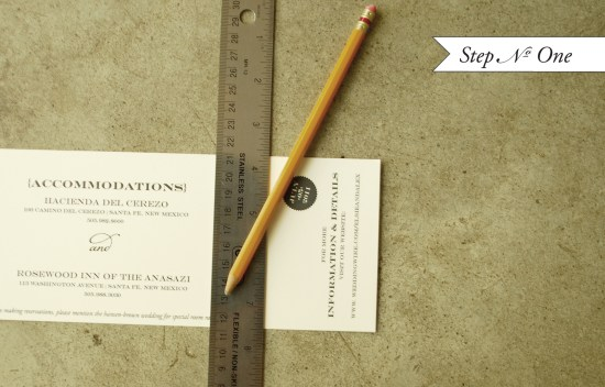 preforated1 550x352 DIY Tutorial: Perforated Modern Save the Date