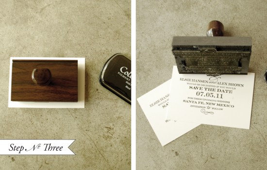 preforated4 550x352 DIY Tutorial: Perforated Modern Save the Date
