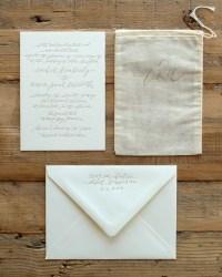 Custom Wedding Invitation by Blackbird Letterpress