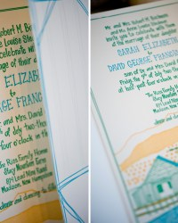 Custom Whimsical Illustrated Letterpress Wedding Invitations by Gus & Ruby Letterpress