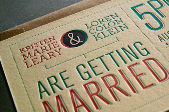 Modern Venn Diagram Overprinting Letterpress Wedding Invitations Rise and Shine Paper3 550x365 Kristen + Lorens Modern Diagram Letterpress Wedding Invitations