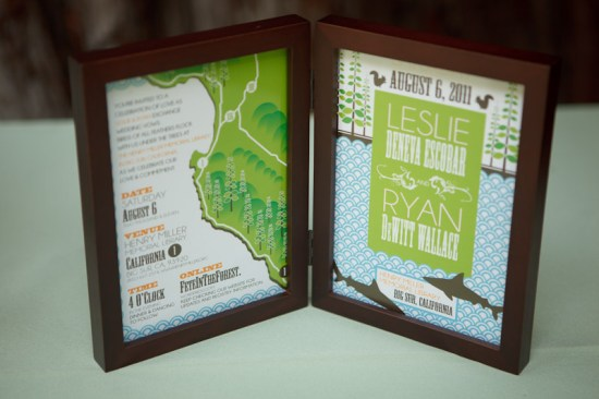 Big Sur Modern Woodland Wedding Invitations5 550x366 Leslie + Ryans Modern Woodland Big Sur Wedding Invitations
