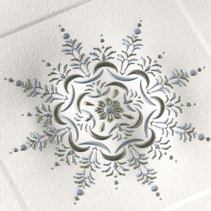 Crane Co Stationery Engraved Holiday Card Snowflake2 300x300 2011 Holiday Card Round Up, Part 2