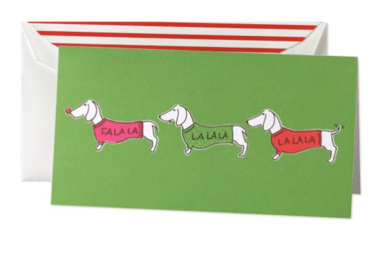 Kate Spade Doggie Holiday Card 550x369 2011 Holiday Card Round Up, Part 2